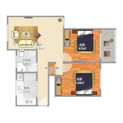 柳埠小区2室1厅1卫1厨70.00㎡户型图