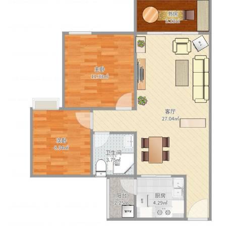 棕榈假日3室1厅1卫1厨78.00㎡户型图