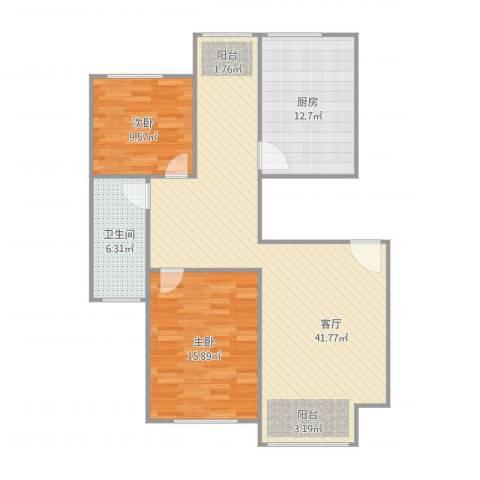 阳光迪金阁2室1厅1卫1厨115.00㎡户型图