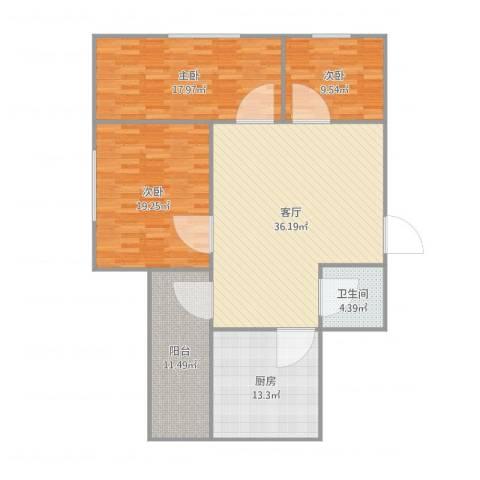 百花总汇9073室1厅1卫1厨149.00㎡户型图