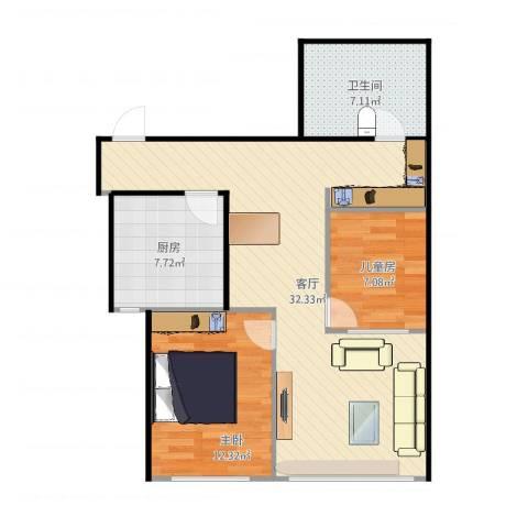 文东花园892室1厅1卫1厨83.00㎡户型图