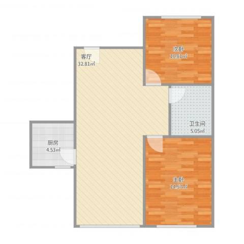 宏发长岛2室1厅1卫1厨72.23㎡户型图