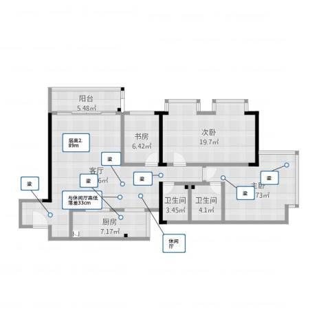 巴渝佳梦3室2厅2卫3室1厅2卫1厨126.00㎡户型图