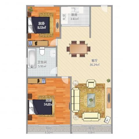 慧芝湖花园762室1厅1卫1厨99.00㎡户型图