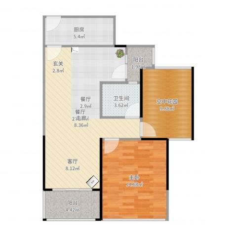 凯南莱弗城1室1厅1卫1厨84.00㎡户型图