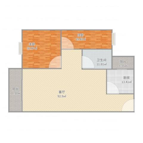 银景苑2室1厅1卫1厨242.00㎡户型图