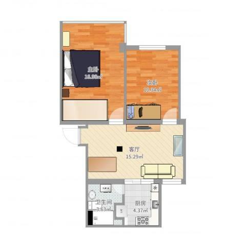 金桥花苑51--1112室1厅1卫1厨63.00㎡户型图