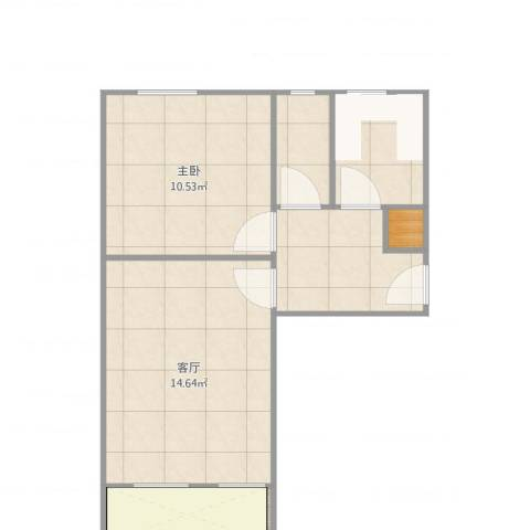 复兴路24号院3室2厅1卫1厨51.00㎡户型图