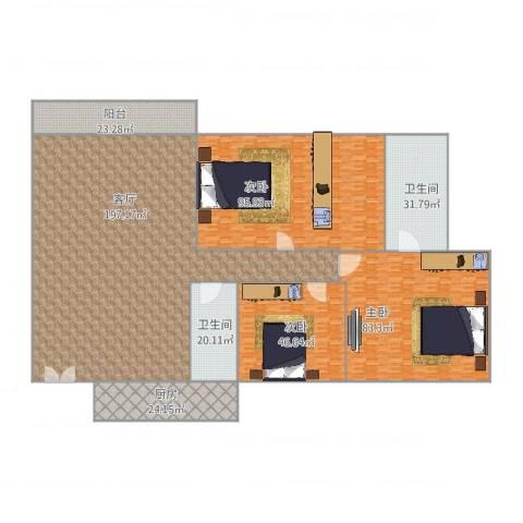 汇星豪庭3室1厅2卫1厨673.00㎡户型图
