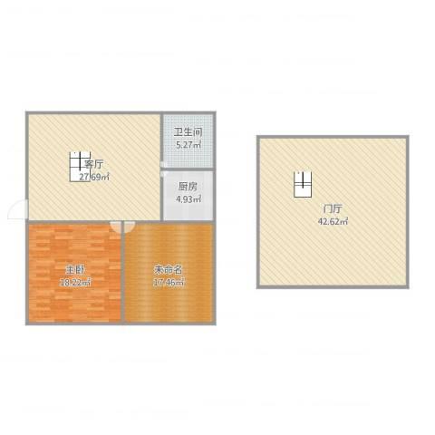 纳米魔幻城1室1厅1卫1厨153.00㎡户型图