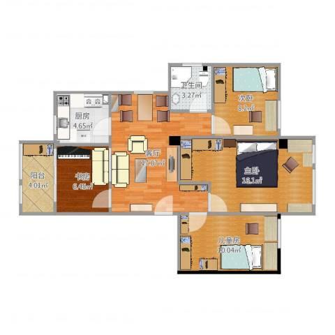 南雅苑4室1厅1卫1厨95.00㎡户型图