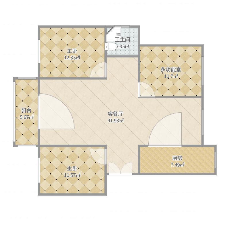 三室两厅一厨一卫