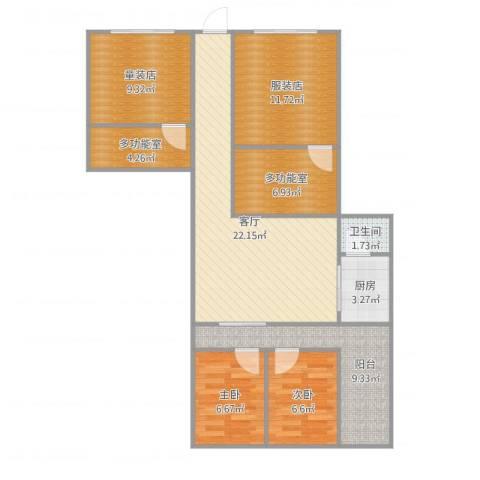 水霞小区2室1厅1卫1厨102.00㎡户型图