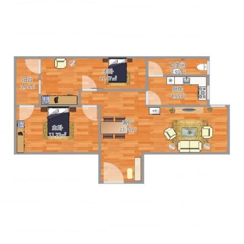 天明苑10号1022室1厅1卫1厨72.00㎡户型图