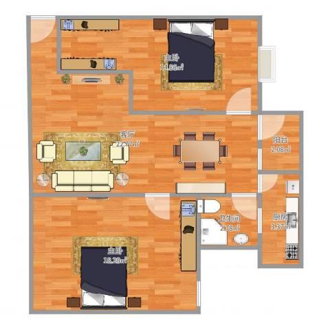 顺景台7032室1厅1卫1厨80.00㎡户型图