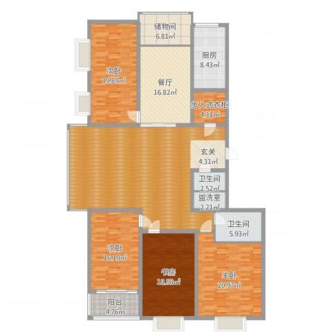 双水湾名门4室3厅2卫1厨230.00㎡户型图