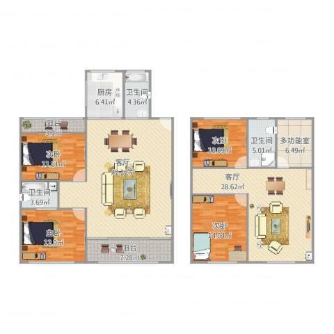 九亭明珠苑4室2厅3卫1厨208.00㎡户型图