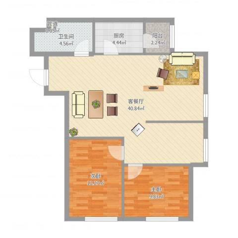 亿合城2室2厅2卫1厨103.00㎡户型图