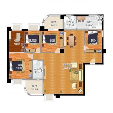 南明苑静和园5室2厅2卫1厨163.00㎡户型图