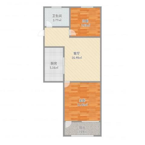 梅陇五村2室1厅1卫1厨65.00㎡户型图