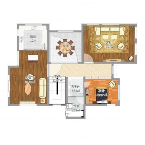 保利林语溪别墅1室4厅1卫1厨176.00㎡户型图