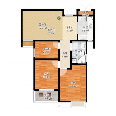 腾运世元3室2厅3卫1厨72.81㎡户型图
