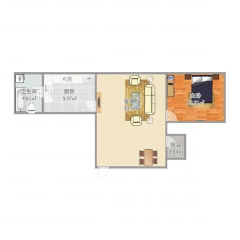明珠广场8座7081室2厅1卫1厨79.00㎡户型图
