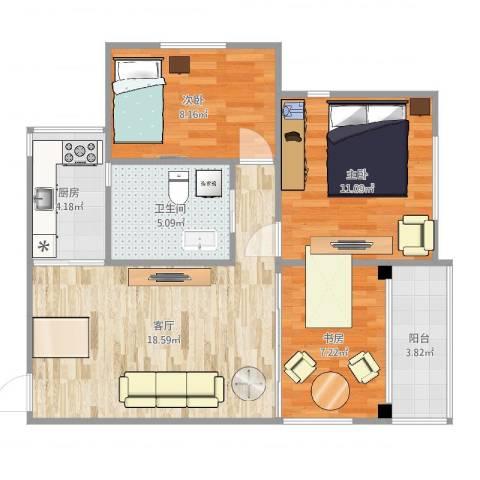 东陆新村五街坊3室1厅1卫1厨73.00㎡户型图