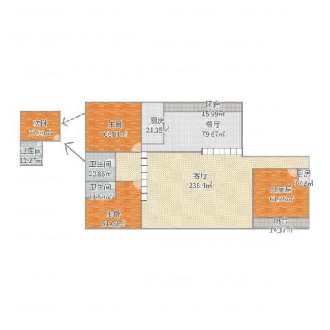 古龙居住公园4室2厅3卫2厨808.00㎡户型图