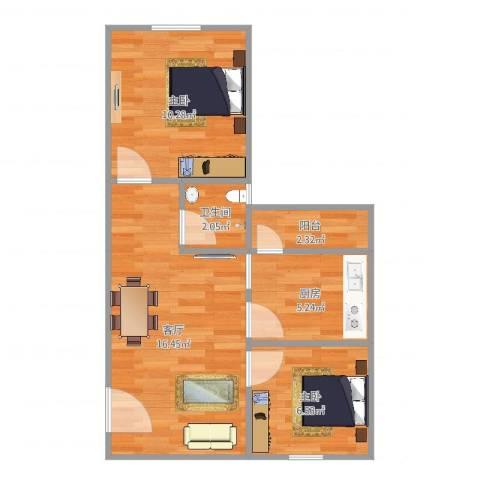 ID14717450侨诚花园秋月苑10栋903房2室1厅1卫1厨54.00㎡户型图