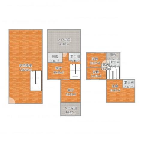 凯德泊宫55座1023室2厅3卫1厨519.00㎡户型图