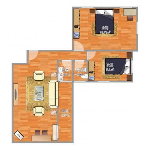 id14257613海印南苑63号7072室1厅1卫1厨74.00㎡户型图