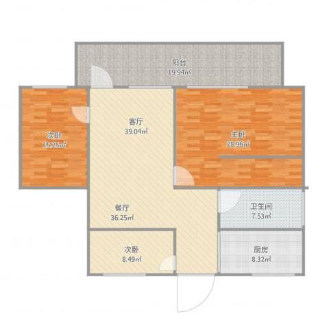富华大厦3室1厅1卫1厨166.00㎡户型图
