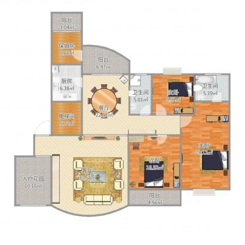 国贸春天3室2厅2卫1厨219.00㎡户型图