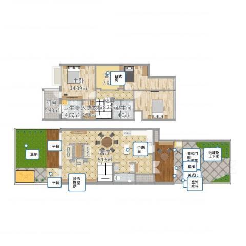 水月周庄1室2厅4卫1厨247.00㎡户型图