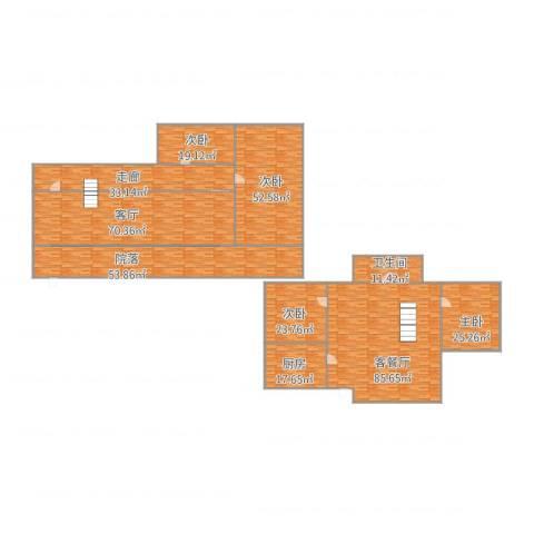 竹之苑4室3厅1卫1厨512.00㎡户型图