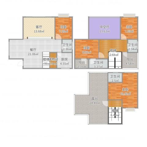 君临天下4室2厅4卫1厨212.00㎡户型图