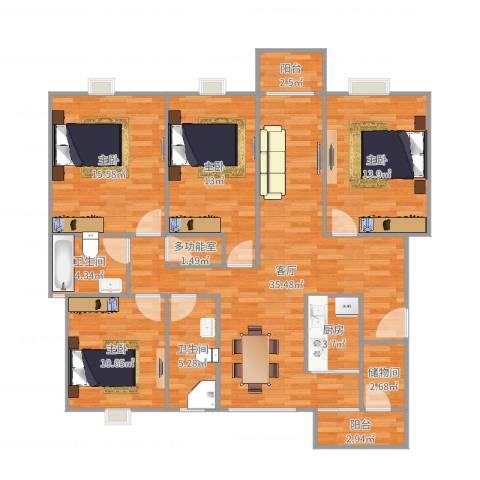 半山溪谷E墅140691704室1厅2卫1厨139.00㎡户型图