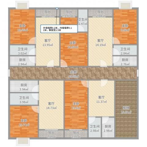 创业花园5室4厅5卫4厨231.00㎡户型图