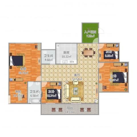 (龙华新区)星河丹堤F区7120284室1厅2卫1厨219.00㎡户型图