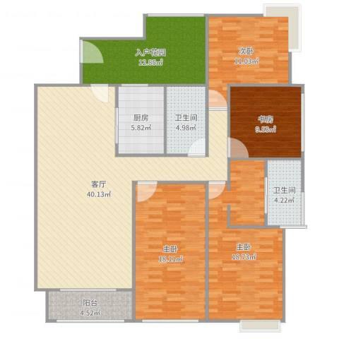 保利花园二期4室1厅2卫1厨162.00㎡户型图