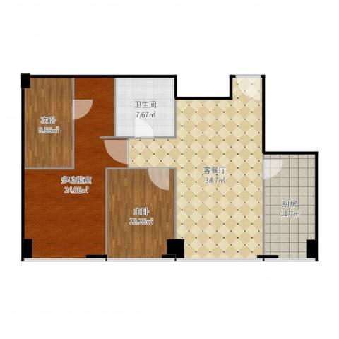 尚峯壹号C2/32室2厅1卫1厨127.00㎡户型图