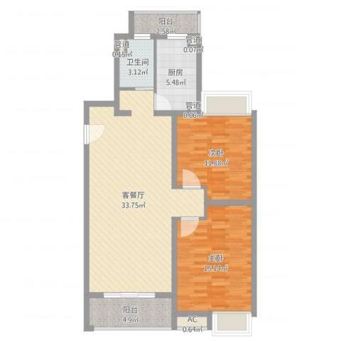 和源祥邸珑庭2室2厅1卫1厨97.00㎡户型图