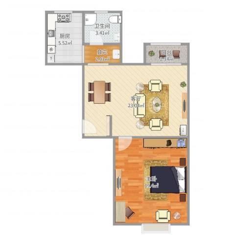 和源祥邸珑庭1室1厅1卫1厨70.00㎡户型图