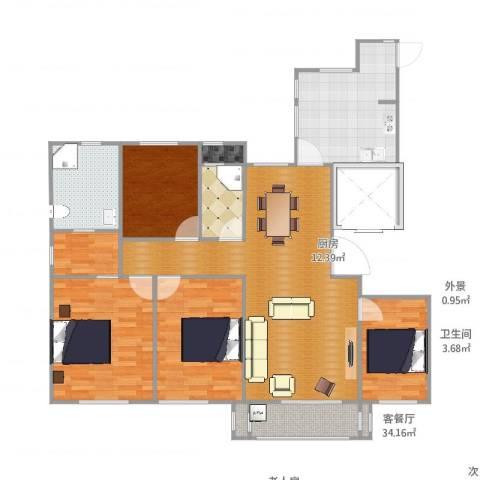 天正天御溪岸4室2厅2卫1厨140.00㎡户型图