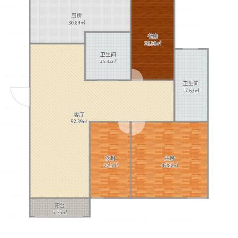 佳安别院3室1厅2卫1厨320.00㎡户型图