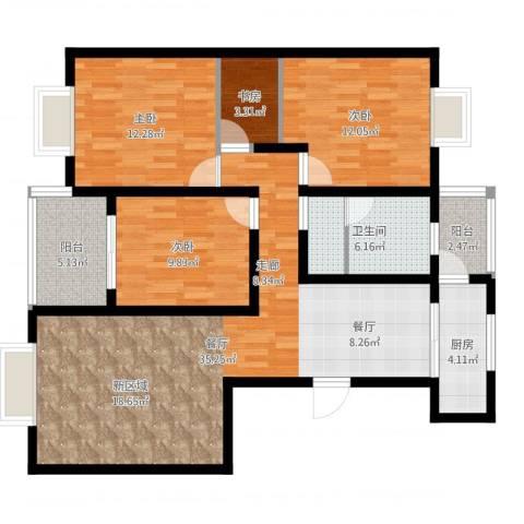 世好国际花园4室1厅1卫1厨113.00㎡户型图