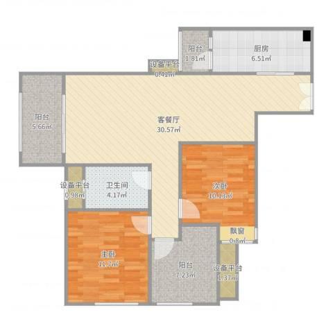 融创凡尔赛领馆2室2厅4卫1厨101.00㎡户型图
