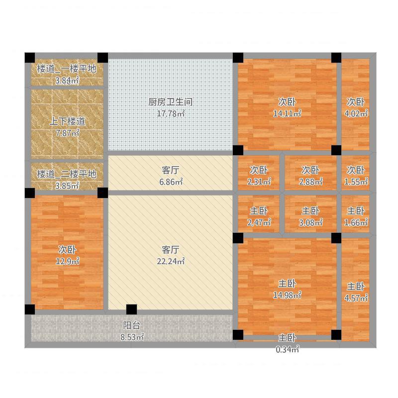 农家房(坐西北朝东南)_二楼基础梁尺寸图