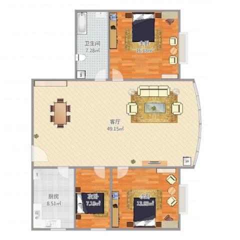 宏丰大厦18063室1厅1卫1厨128.00㎡户型图